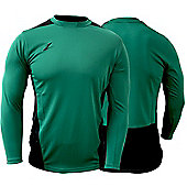 Ziland Team Football Shirt Long Sleeve - Green & Black