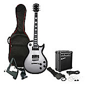 Rockburn Rock Style Electric Guitar Package - Silver Burst