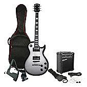 Rockburn Rock Style Electric Guitar Package - Silver Burst