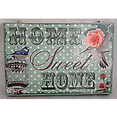 Country Club Sentiments 20 x 30cm Wall Canvas, Home Sweet Home