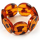 Animal Print Round Resin Flex Bracelet