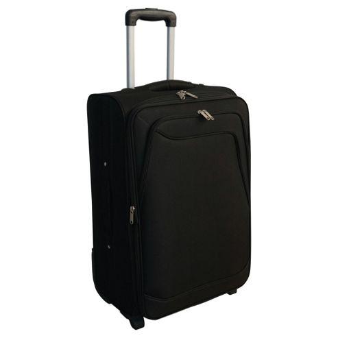 Tesco 2-Wheel Soft Sided Suitcase, Black Medium