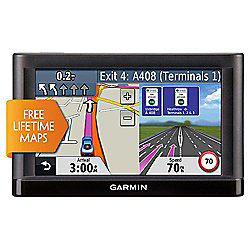 "Garmin nuvi 52LM WEU Sat Nav, 5"" LCD Touch Screen with Free Lifetime Map Updates for the UK & Western Europe"