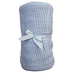 Tesco Cot Bed Cellular Blanket, Blue