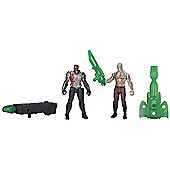 Marvel Guardians of the Galaxy Double Pack - Drax and Korath Figurines