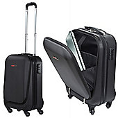 "Swisscase Pro Business Traveller 20"" Abs 4-Wheel Cabin Suitcase W/ Laptop Pocket"