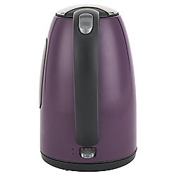 Tesco Stainless Steel Jug kettle, 1.7L - Deep Purple