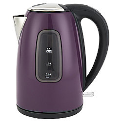 Tesco Stainless Steel Jug kettle, 1.7L - Deep Purple