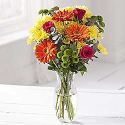 Rainbow Gerbera, Chrysanthemum & Rose Bouquet