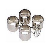 Mermaid Set Of 4 Stainless Steel Food Rings & Food Ring Mate (70mm)