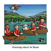 Holy Mackerel Messing About In Boats Greetings Card
