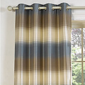 Julian Charles Soho Blue Luxury Jacquard Eyelet Curtain -112x137cm