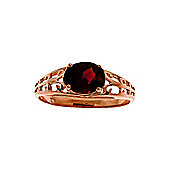 QP Jewellers 1.15ct Garnet Catalan Filigree Ring in 14K Rose Gold