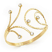 Gold Plated Crystal Armlet Bangle