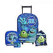 Monsters University Inc. 4pc include Wallet Backpack Trainer Bag Wheeled Set