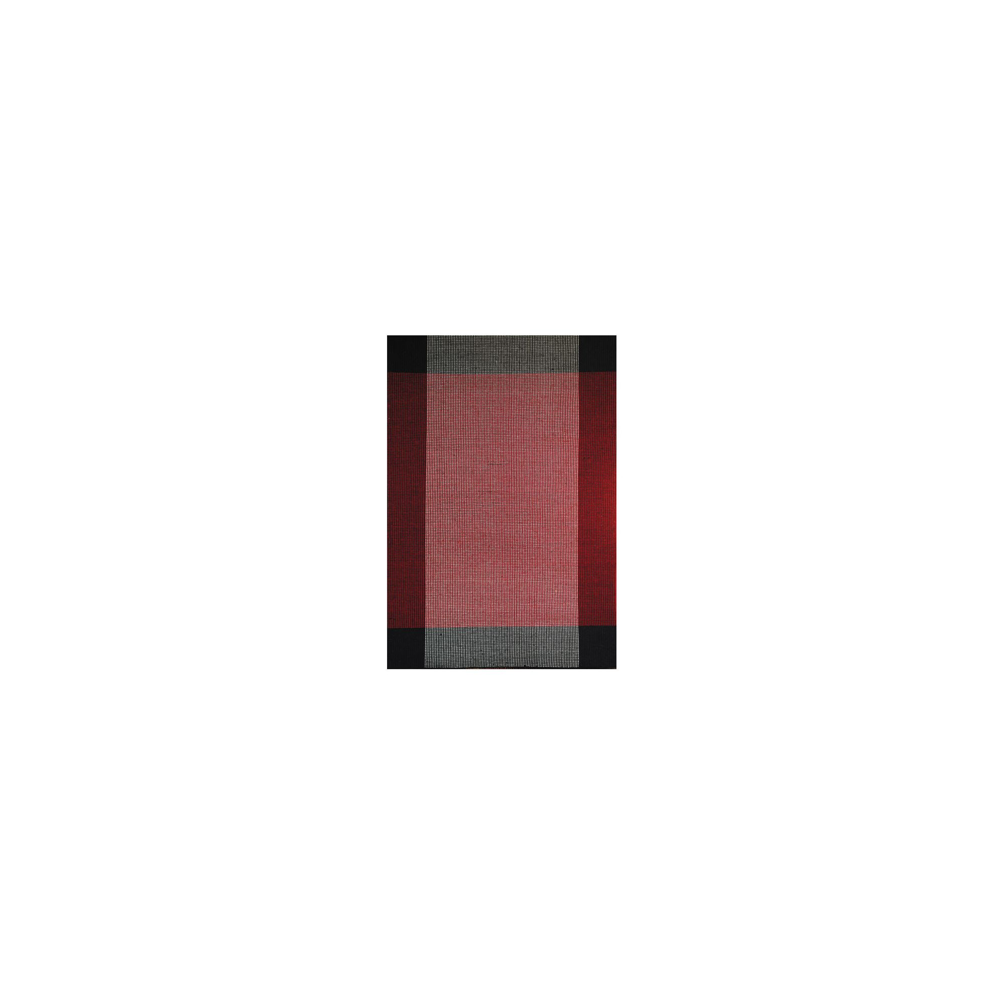 InRUGS Ellora Black/Red Woven Rug - 230cm x 160cm (7 ft 6.5 in x 5 ft 3 in)