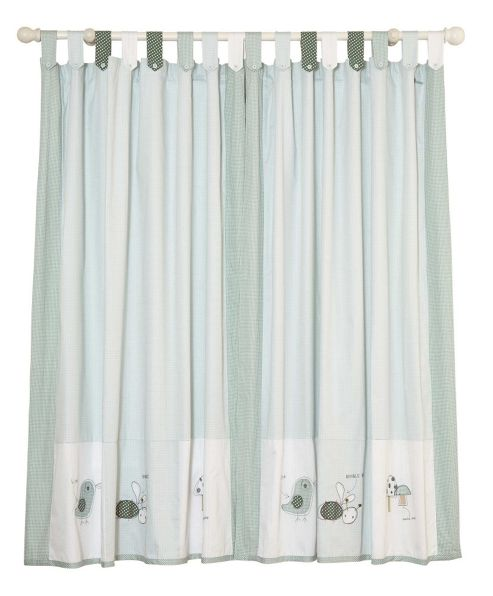Mamas & Papas - Scrapbook Boys - Tab Top Curtains