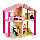 Viga Wooden Pink Dollhouse