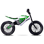 Caretero Enduro Wooden Balance Bike (White/Green)