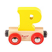 Bigjigs Rail Rail Name Letter P (Yellow)