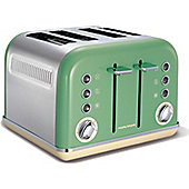 Morphy Richards 242006 Accents 4 Slice Toaster, Sage Green