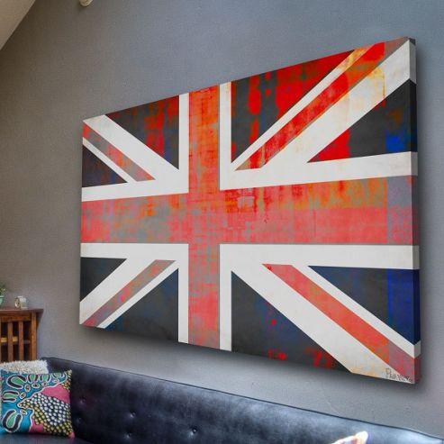 Parvez Taj Union Jack Wall Art - 101 cm H x 152 cm W x 5 cm D
