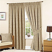 KLiving Turin Pencil Pleat Curtains 90x72 - Mink