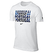 2014-15 Portugal Nike Core Type Tee (White) - White