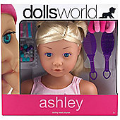 Dolls World Styling Head Playset Ashley Blonde Hair