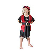 Pirate Girl - Toddler Costume 2-3 years