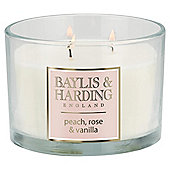 Baylis & Harding Multiwick Candle Peaches & Rose