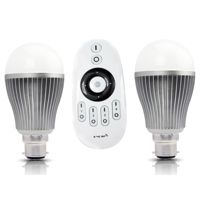 MiLight B22 9W Smart Light Beginner Kit with Remote and 2 Bulbs (White)