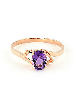 QP Jewellers 0.75ct Amethyst Classic Desire Ring in 14K Rose Gold
