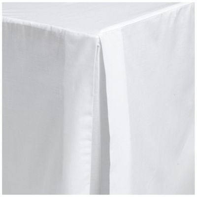 Tesco King Size Valance Sheet, White