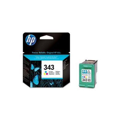 HP 343 Colour Computer Printer Ink Cartridge (C8766EE)