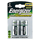 Energizer C 2500 mAh Rechargeable 2 Pack Batteries
