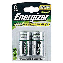 Energizer C 2500 mAh Rechargeable 2 Pack Batteries