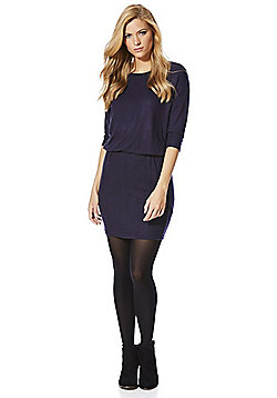 Only Elasticated Waist Jumper Dress - Navy