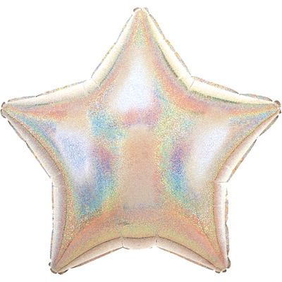 Silver Dazzler Star Balloon - 19 inch Foil