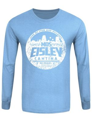 MOS Eisley Cantina Men's Long-sleeve T-Shirt, Carolina Blue