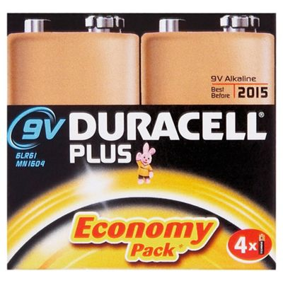 Duracell 4 Pack 9V Batteries