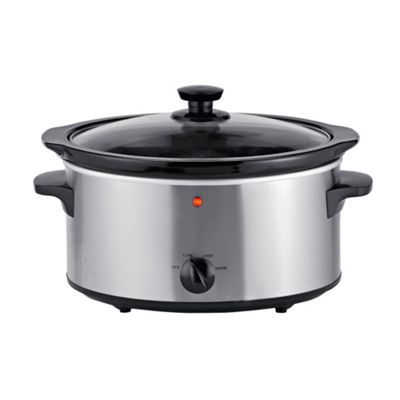 Tesco SC356 Slow Cooker Brushed steel