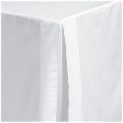 Tesco Single Valance Sheet, White