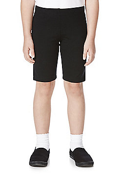 F&F School 2 Pack of Girls Cycling Shorts with As New Technology - Black