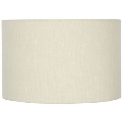 Modern 45cm Cream Double Lined Linen Drum Lamp Shade Cylinder