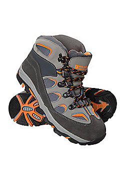 Mountain Warehouse Boys Durable Boots with Mesh Upper and Hardwearing Outsole - Black