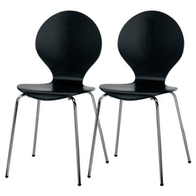 Pair of Bistro chairs, black