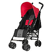 OBaby Atlas Stroller (Grey Stripe/Red)