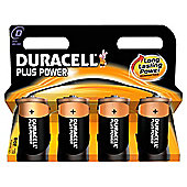 Duracell Plus 4 Pack D Batteries