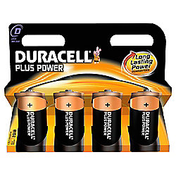 Duracell Plus 4 Pack D Batteries